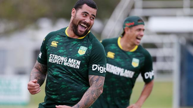 Smith played down Andrew Fifita's Tonga switch. Picture: Stewart McLean