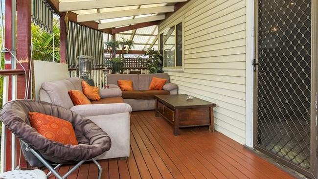 The veranda of 18 Excelsior Street, Merrylands, which sold $33,000 over reserve.