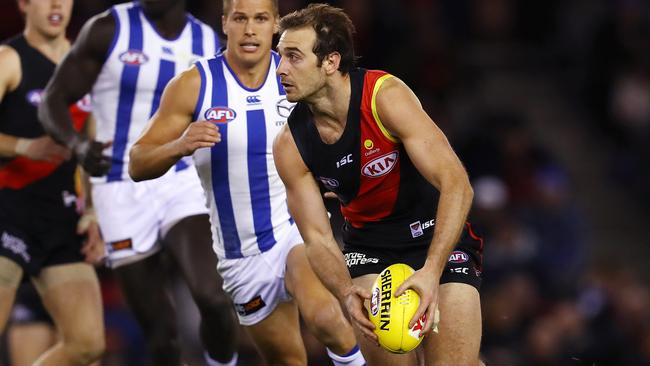 Jobe Watson returned from suspension for one more season. Picture: Michael Klein