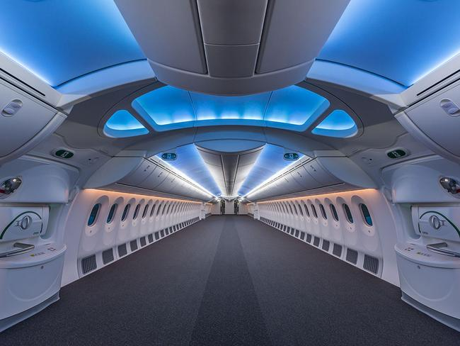 A hollowed-out Boeing 787. Picture: Boeing