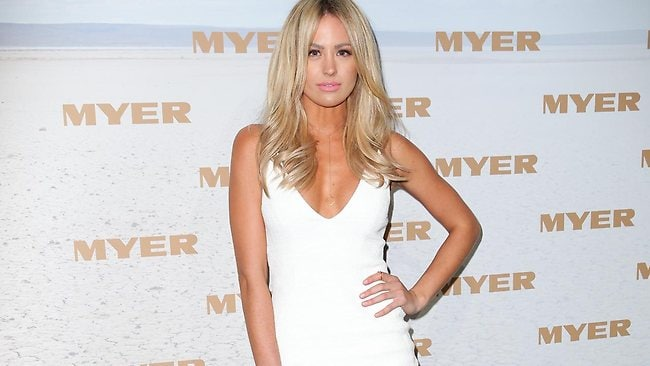 Jesinta Campbell at the MYER 3013 Spring/Summer Collections Show held at a Fox Studios sound stage in Moore Park. Picture: Dobson Richard
