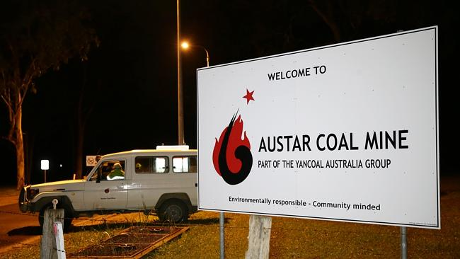 Another rescue team arrives at the Austar Coal Mine last night following a wall collapse. Picture: Bill Hearne