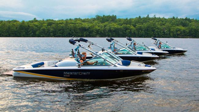 Camp Laurel in Maine boasts four Championship MasterCraft ski boats for waterskiing and wakeboarding among its fancy activities. Photo: John Fortunato