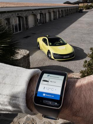 Rinspeed Etos concept car is also activated from your wrist. Picture: Supplied