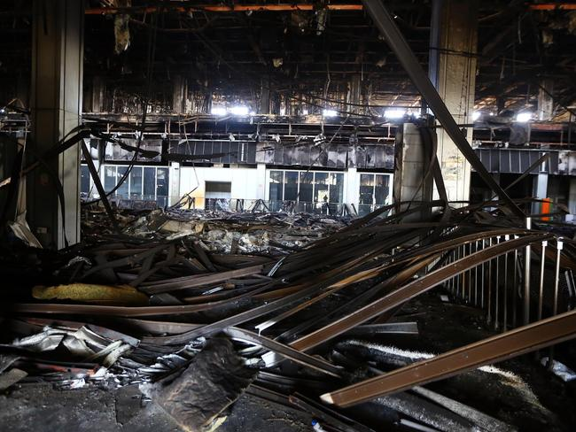Wreckage ... A picture taken on August 26, 2014, shows the damaged interior of the main building at Tripoli international airport in the Libyan capital. Picture: AFP PHOTO/MAHMUD TURKIA