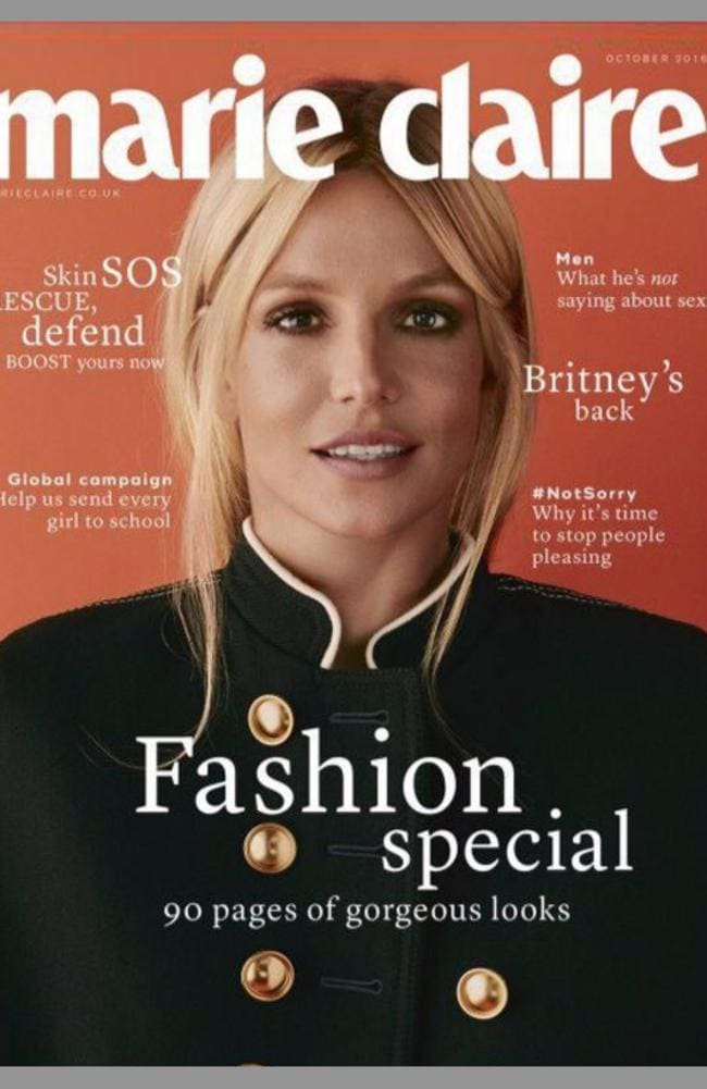 Britney is the October cover girl for Marie Claire.