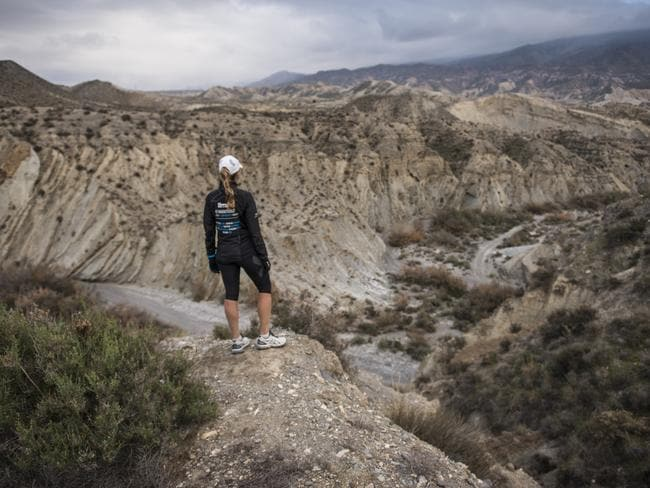 Guli will complete the equivalent of 40 marathons in 49 days through deserts like the Tabernas. Photo: Kelvin Trautman