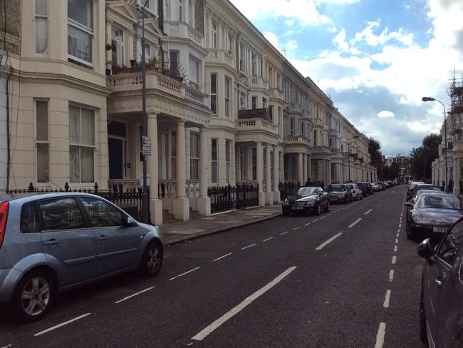 Where the other half live: the impressive terrace houses of up-market Chelsea. Picture: Catherine McMaster