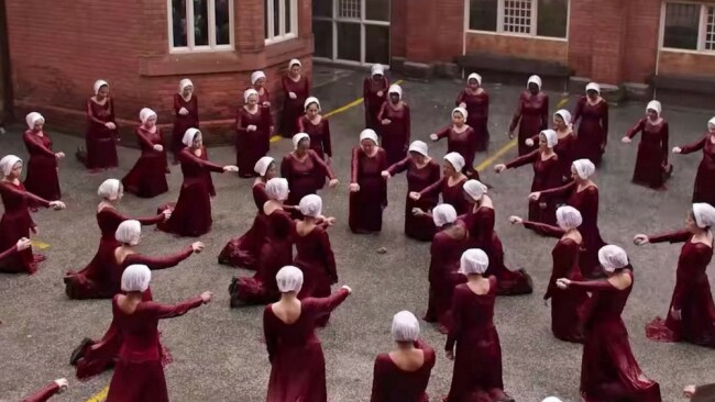 The Handmaids are punished in the first episode of season two. Photo: Supplied