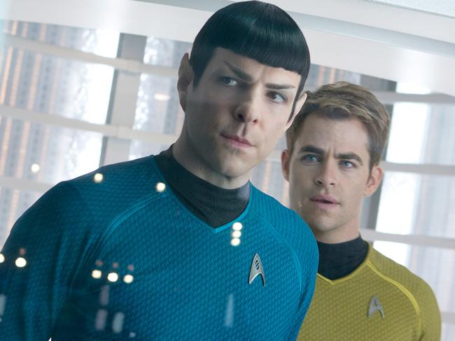 Brow raising ... men should steer clear of Spock-style raised eyebrows as seen on Zachary Quinto in Star Trek Into Darkness. Picture: Supplied