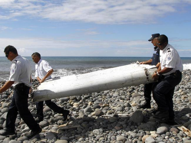 Found and identified ... a flaperon from an aircraft washed ashore on Reunion island, France. French officials said 'with certainty' that it came from missing flight MH370.