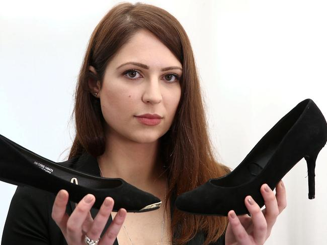 Nicola Thorp was sent home from a top accountancy firm for not wearing high heels to work. Picture: SWNS/Snapper Media