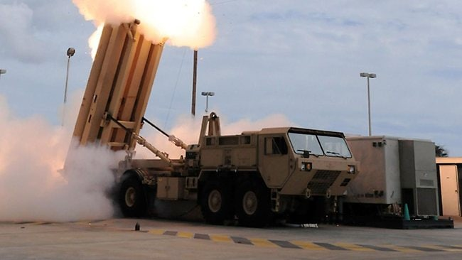 The Terminal High Altitude Area Defense (THAAD) missile during a test. The United States is to deploy a THAAD missile defense battery to defend its bases on the Pacific island of Guam.