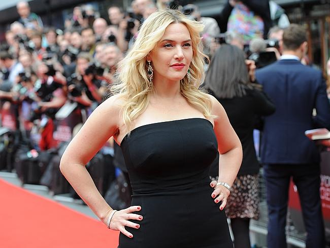 Kate Winslet attends the European premiere of Divergent at Odeon Leicester Square in London.