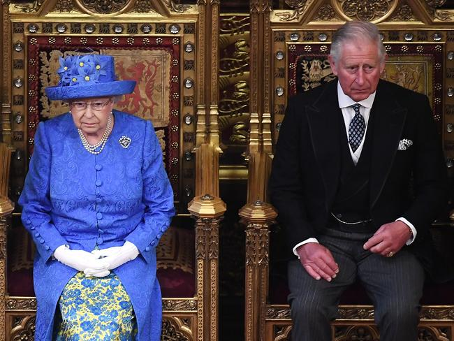 Queen Elizabeth and Prince Charles at the Houses of Parliament in June. Picture: Carl Court/Getty Images