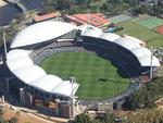 An aerial photo from the 7 News helicopter of Adelaide Oval during Showdown XXXVI. Picture: Dean Martin