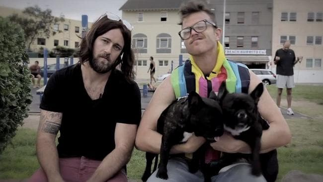 Hip to be hot ... comedic actors Dom and Adrian in character as the Bondi Hipsters.