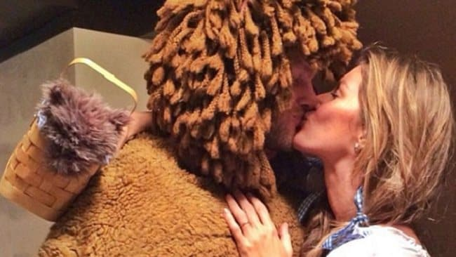 Tom Brady and wife Giselle Bundchen went as the cowardly lion and Dorothy from The Wizard of Oz.