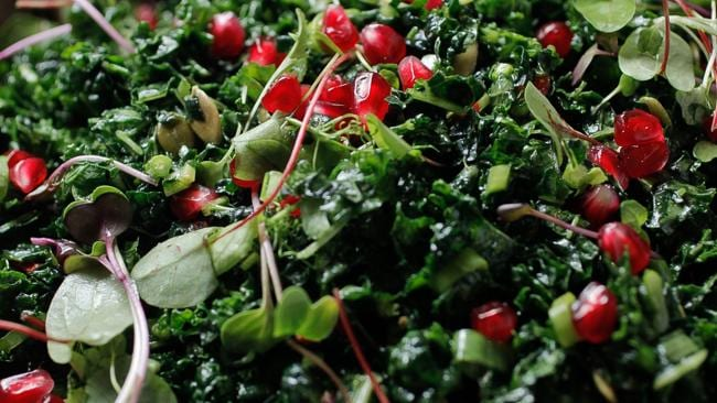 Teresa Cutter's Kale Salad. Picture: Courtesy of Healthy Chef.