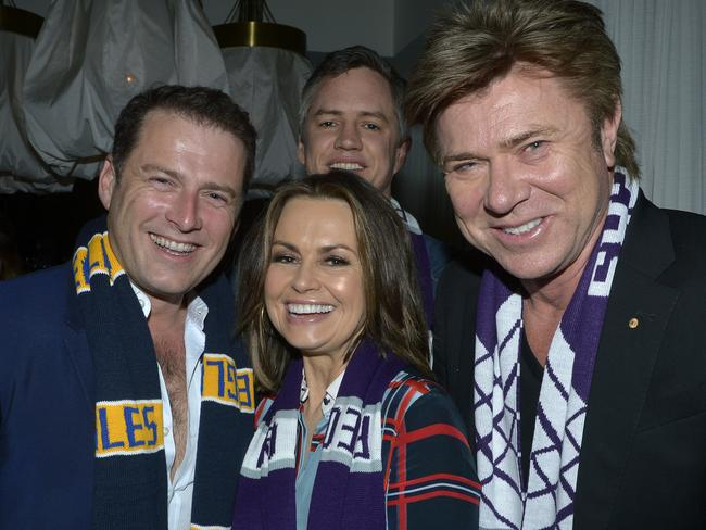 Channel 9 talent Karl Stefanovic, Lisa Wilkinson, Richard Wilkins and Tim McMillan.