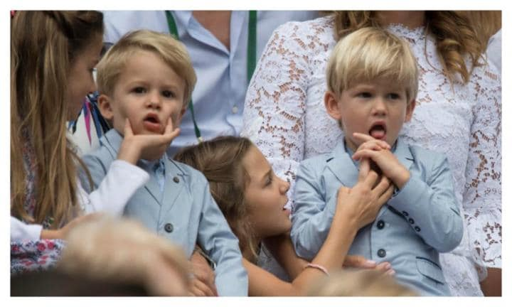 Roger Federer's two sets of twins steal the show with cuteness at Wimbledon