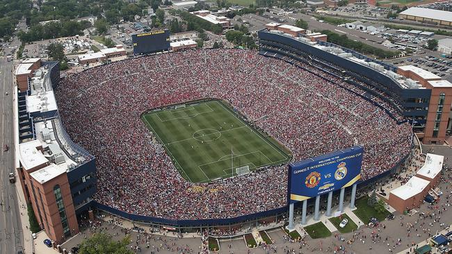 More than 100,000 people turned out to watch United play Real Madrid in Michigan.