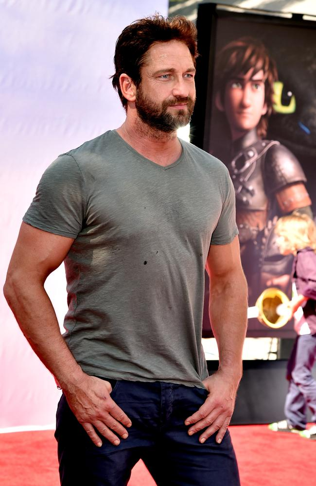 Gerard Butler at the LA premiere of  <i>How To Train Your Dragon 2</i>.