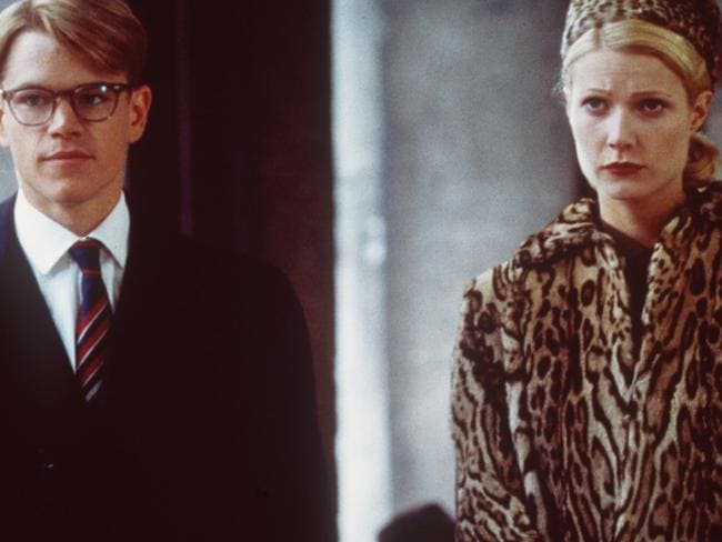 Matt Damon and Gwyneth Paltrow in a scene from 1999 film  <i>The Talented Mr Ripley</i>. Picture: Miramax