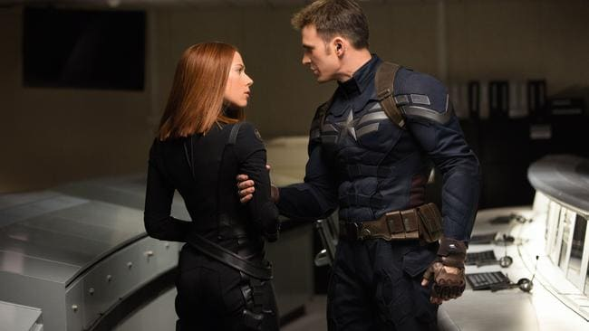 Marvel's Captain America: The Winter Soldier. Black Widow/Natasha Romanoff (Scarlett Johansson) and Captain America/Steve Rogers (Chris Evans) Picture: Supplied