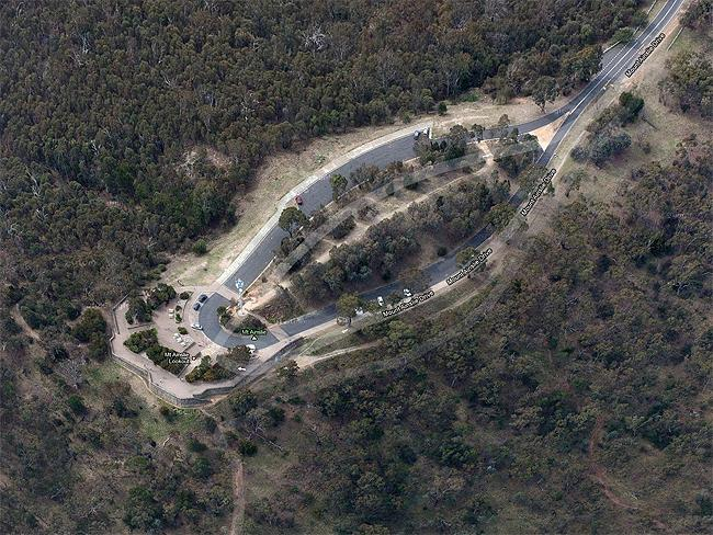"Canberra in 3-D: #6 Mount Ainslie Lookout ""A good place to understand Walter Burley Griffin's vision"". Photo: Google Maps"