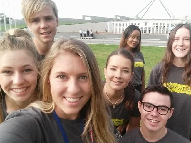 The student aired her views with other young regional Australians at Parliament House.
