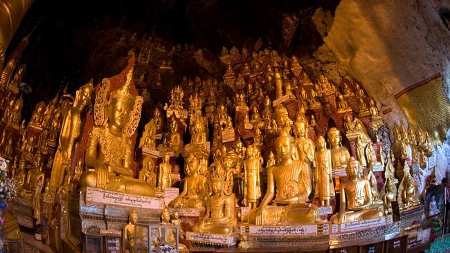 8000 Buddhas inside the Pindaya Caves. Picture: Thinkstock
