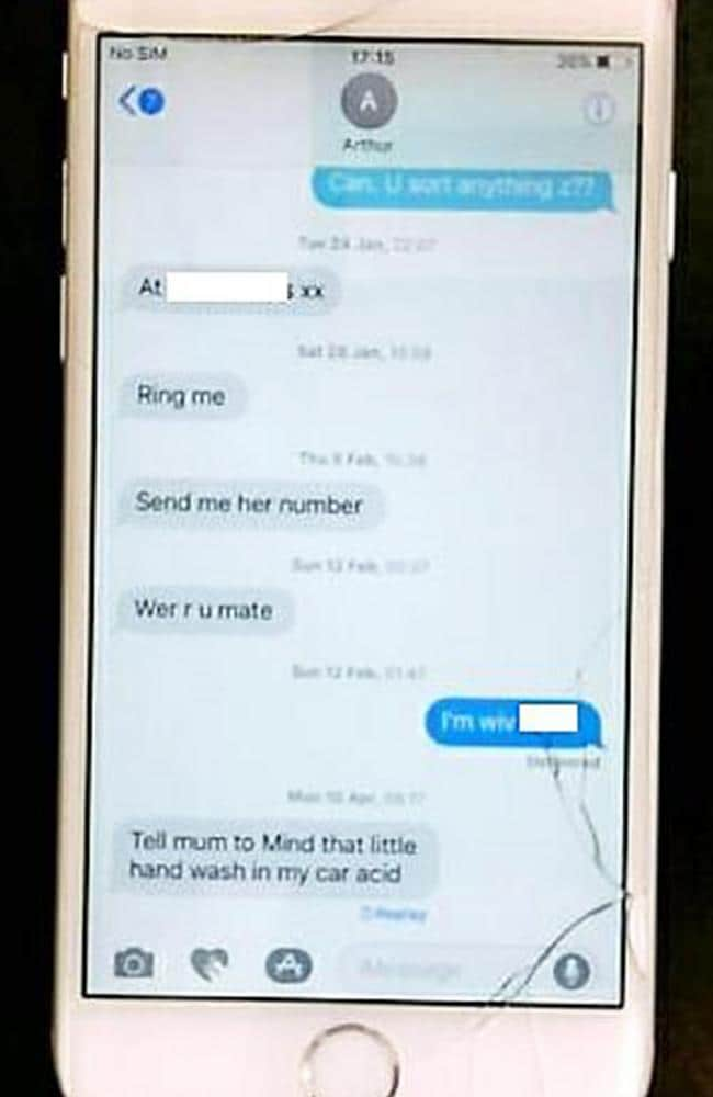 A photo of Collins' sister's phone. Picture: Central News