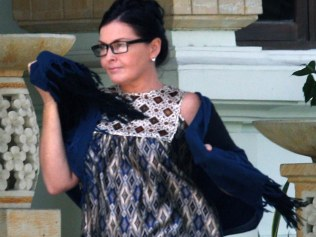 Australian Schapelle Corby visit to Prosecutor Office after the Parole office for her monthly report. Schapelle's boy friend Ben Panangian has arrested by Police as possessing marijuana last month in Nusa Dua, Bali.