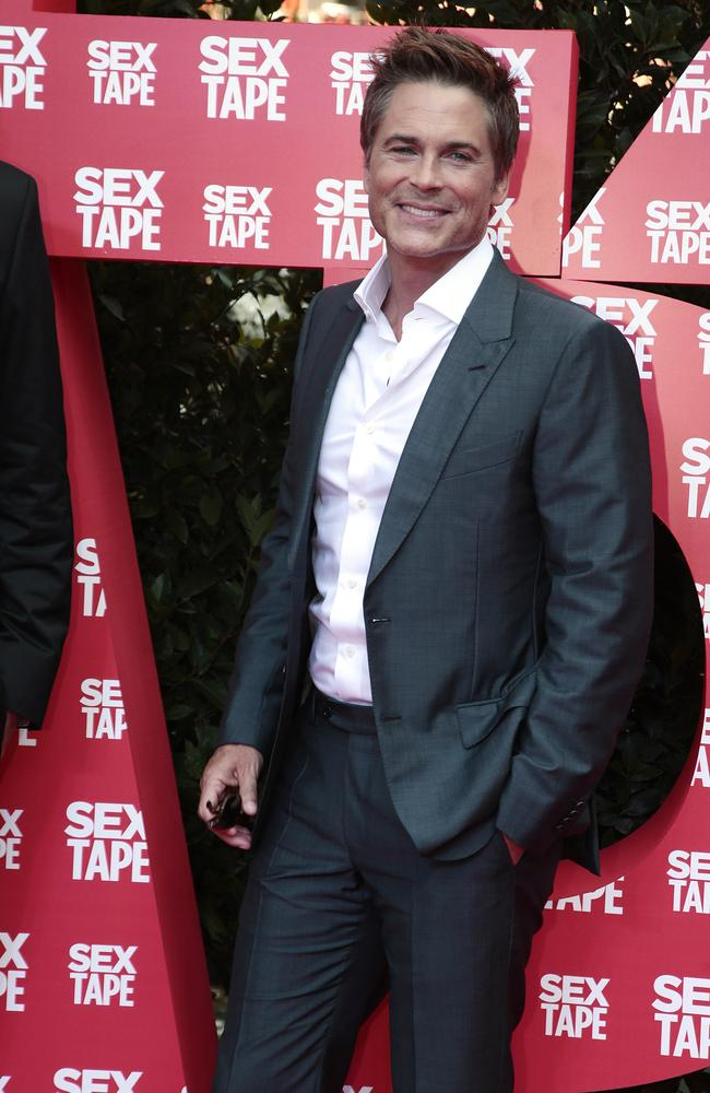 Career reinvention... Rob Lowe on the red carpet for his latest film 'Sex Tape' on Wednesday in Barcelona, Spain. Picture: Getty