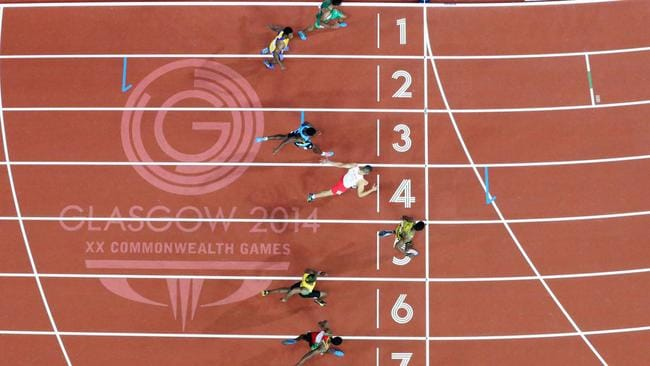 It was a tight finish in the mens 100m final.