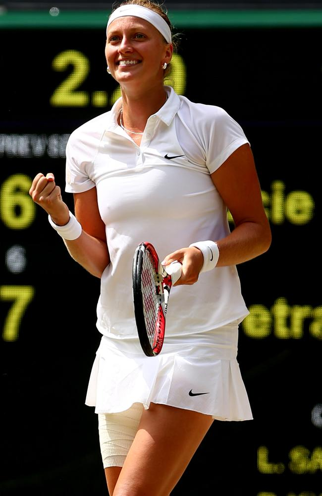Petra Kvitova will take on Eugenie Bouchard in the women's final at Wimbledon.