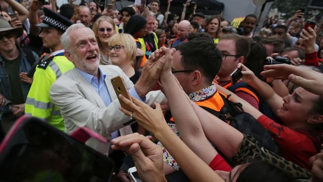 UK Labour Party leader Jeremy Corbyn is zealously adored by a large minority of voters, which is precisely the problem. Picture: Daniel Leal-Olivas