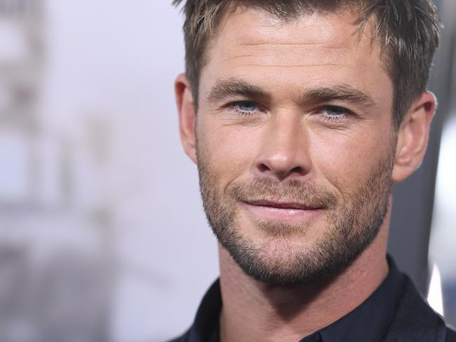 Chris Hemsworth at the World Premiere of 12 Strong in New York in January. Picture: AFP