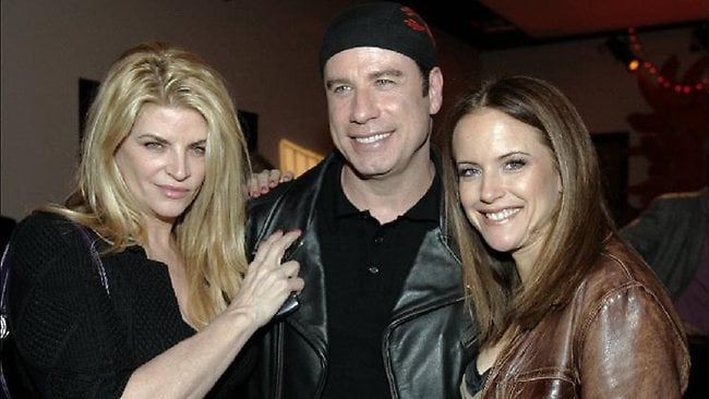 Kirstie Alley and John Travolta and Kelly Preston