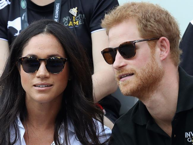 Prince Harry and Meghan Markle attend a Wheelchair Tennis match during the Invictus Games. Picture: Getty