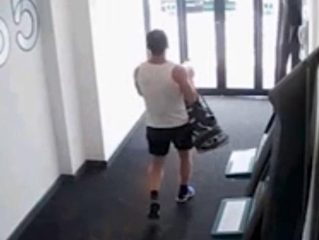 The killer leaves the gym just prior to murdering Molly McLaren. Picture: Kent Police/PA