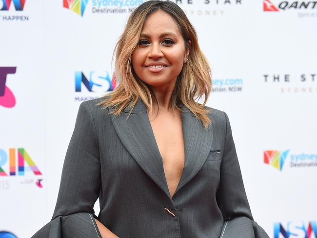 Jessica Mauboy arrives at the 29th ARIA Awards at The Star. Picture: AAP Image/Dan Himbrechts
