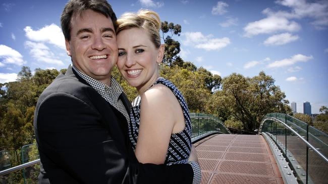 Matt Birney, pictured with wife Kellee when he was last in politics, is considering public office again.