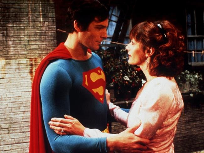 Christopher Reeve and Margot Kidder appeared in four Superman films together. Picture: Supplied