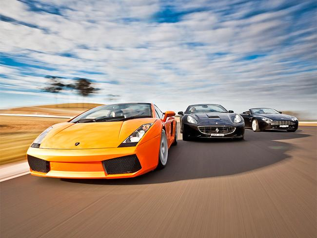 Drive the dream machines. Pictures: Courtesy of Sports Car World Rentals