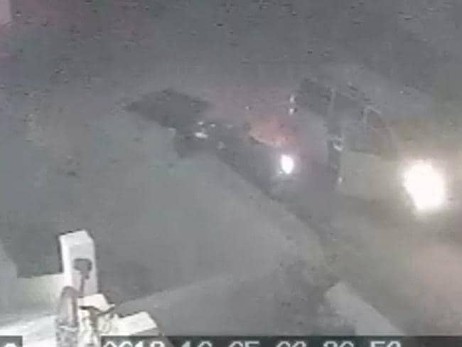 The doors of the van flung open and armed US commandos poured out. Picture: CCTV footage