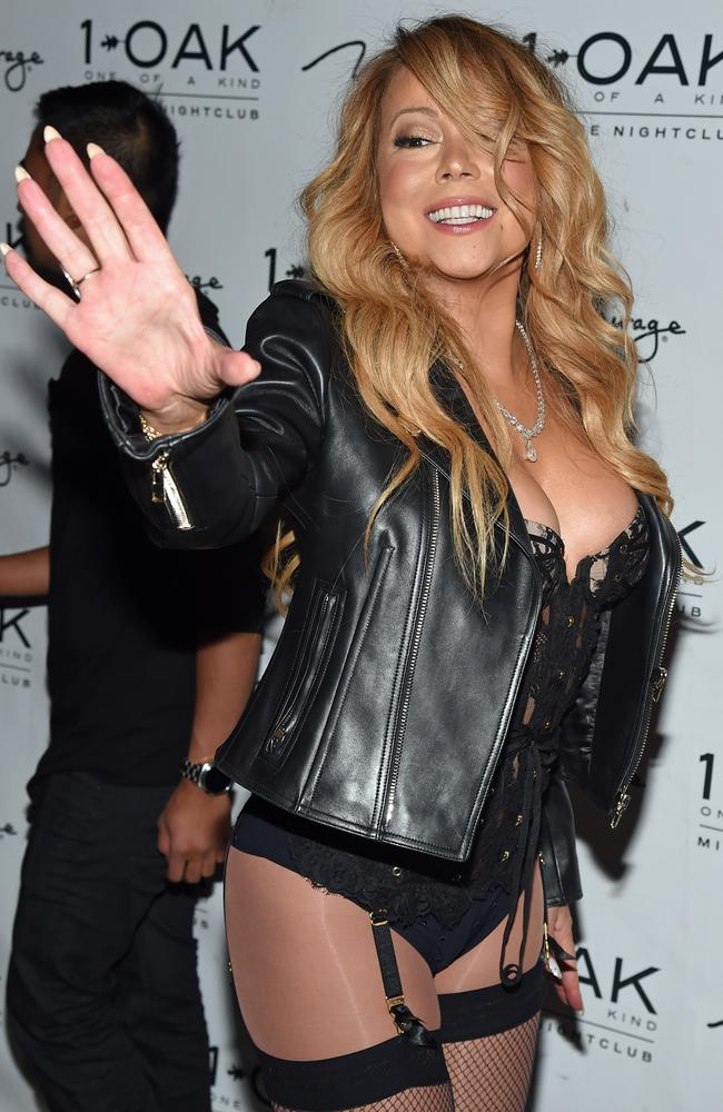 mariah carey in lingerie singer walks red carpet in underwear