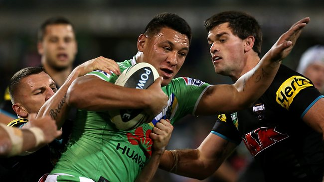 Josh Papalii had a big game for the Raiders. Picture: Kym Smith