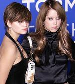 <p>Daughters of British Rock-sytar Bob Geldof (L-R), Pixie and Peaches Geldof arrive at the World Music Awards in Earls Court, London, 15 November 2006.</p>
